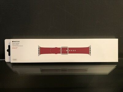 Genuine Apple Watch Leather Band w/ Classic Buckle 42mm -Ruby Leather MR3A2AM/A