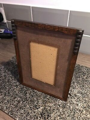 small vintage antique art deco oak picture frame from around 1930s
