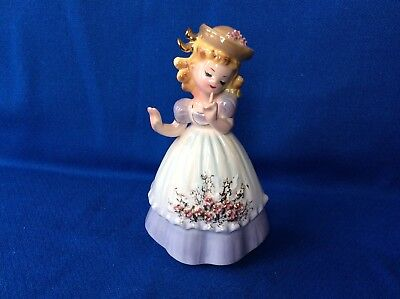 Tina Josef Originals Figurine First Love Girl for Toni Vintage Purple Hat Marked