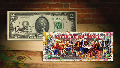 Declaration of Independence LTD # of 76 Rency SIGNED Colorized $2 US Bill Dream