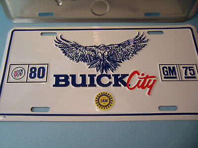2- Buick City Official Car Factory License Plates