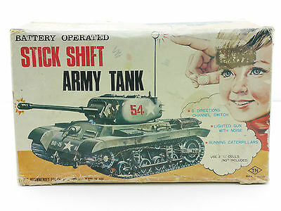 T.N TN NUR Originalkarton Box von Stick Shift Army Tank Japan OVP 1411-27-95