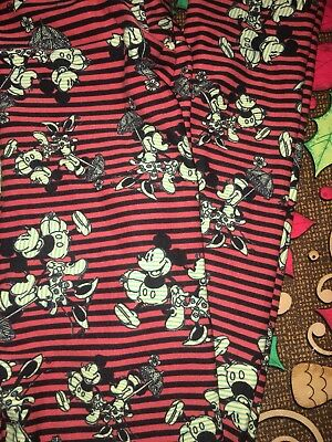 Lularoe Disney L/XL Mickey Minnie Mouse Striped Kissing Love New Collection NWT