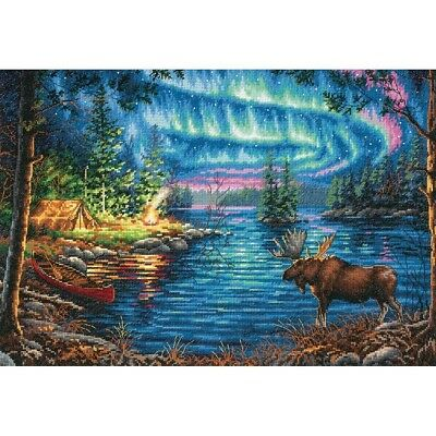 "DIMENSIONS GOLD COLLECTIONS ""NORTHERN NIGHT""CROSS STITCH KIT  Kreuzstich-Stickpa"