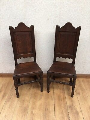 Matching Gothic Style Vintage Hall Chairs