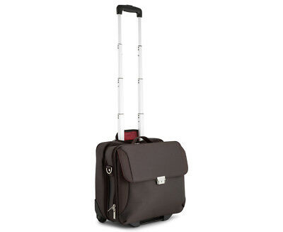 Tosca Hermitage Collection Mobile Office Trolley Case - Coffee