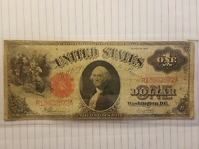 1917 $1 United States legal tender Large note