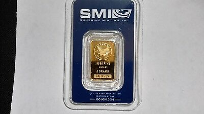 5 gram 24K 9999 pure Gold; Sunshine Mint DIRECT! WITH MINT MARK. PERFECT! 5 days