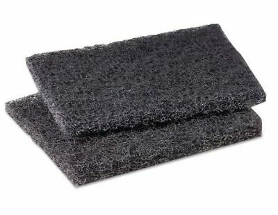 "ARRAY Black Heavy-Duty Griddle Cleaning Pads (4"" x 6"") Pack of 10"