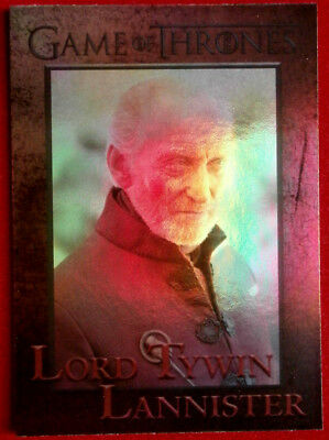 GAME OF THRONES - LORD TYWIN LANNISTER - Season 4 - FOIL PARALLEL Card #56