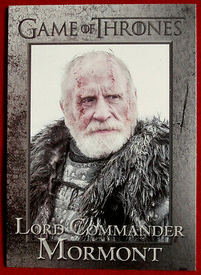 GAME OF THRONES - LORD COMMANDER MORMONT - Season 3, Card #49 - Rittenhouse 2014
