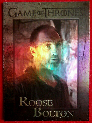 GAME OF THRONES - ROOSE BOLTON - Season 4 - FOIL PARALLEL Card #63