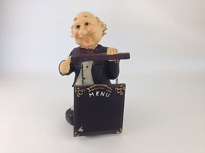 Waiter with Menu Board - Butler Statue - Food Sign - Free Shipping