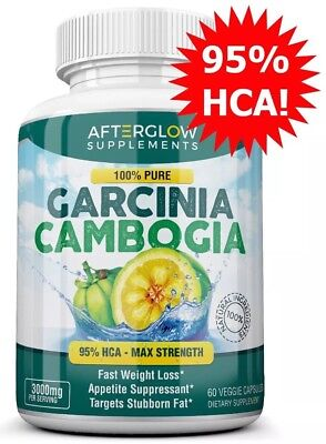 AfterGlow GARCINIA CAMBOGIA 3000mg Diet Pills Weight Loss Fat Burner PURE 95%HCA