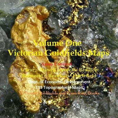 CD - Victorian Goldfields - Vol 1 Western Area - 133 Prospecting Maps + Books