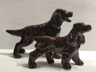 2 Vintage Porcelian Cocker Spaniel Figurines Japan