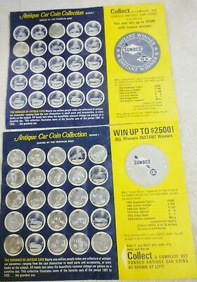 Lot 2 Sunoco Franklin Mint Antique Car Coin Collections 22 Coins