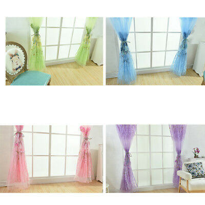 Romantic Stylish Soft 200x100cm Galsang Flower Voile Curtain for Home Decoration