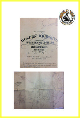 Historic Gold Rush Map from Western NSW Goldrush
