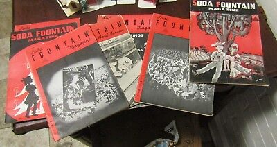 8 Original Soda Fountain Magazines 1937, 1938, and 1942