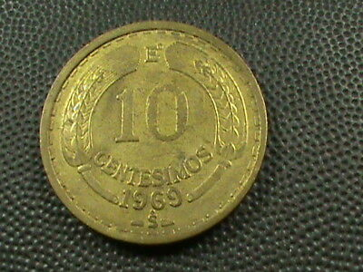 CHILE   10 Centesimos   1969   ,   $ 2.99  maximum  shipping  in  USA