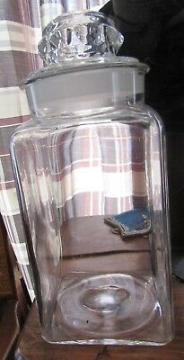 ca1890 ADAMS TUTTI FRUTTI CHEWING GUM GLASS CANDY JAR COUNTERTOP DISPLAY JAR