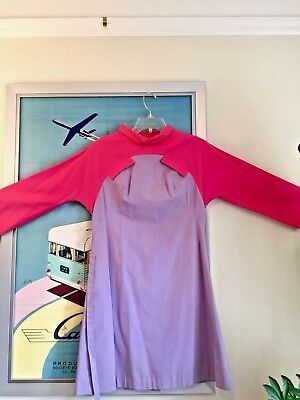 BRANIFF INTERNATIONAL AIRWAYS Emilio Pucci Stewardess Uniform Puccini Dress 1966