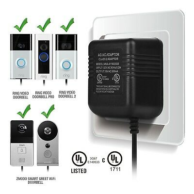 Ring Video Doorbell Power Adapter Transformer Battery Charging House Accessories