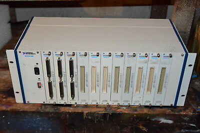 National Instruments NI SCXI-1001 Chassis, 12 slot SCXI mainframe with 11 cards