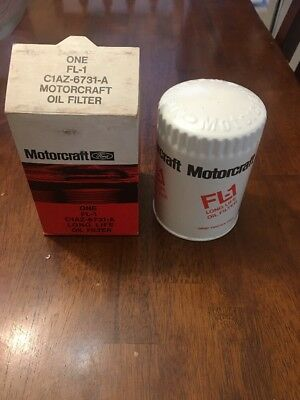 Ford Motorcraft Embossed FL1 Oil Filter 1960s 70s Mustang Galaxie Torino 68 69
