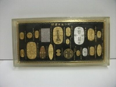 Japanese successive Coin OOBAN and KOBAN. Pure gold · pure silver · plating