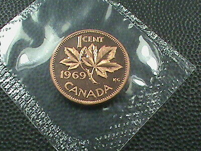 CANADA   1 Cent    1969   UNCIRCULATED    ,   $ 2.99  maximum  shipping  in  USA