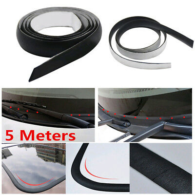 Car Front Rear Windshield Sunroof Window Rubber Sealed Strips Trim 5M Waterproof