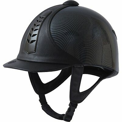 Dublin Silver Pro Graphic Unisex Safety Wear Riding Hat - Black All Sizes