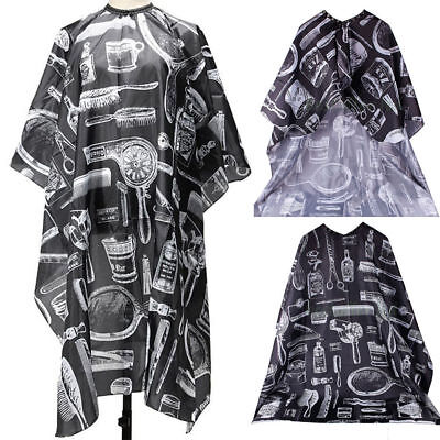 Nylon Hair Salon Cutting Cape Barber Hairdressing Apron Barber's Tools Printing