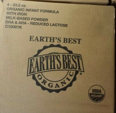 Lot of 4 Earths Best Baby Formula w/ Iron Organic Sensitivity DHA Baby Food
