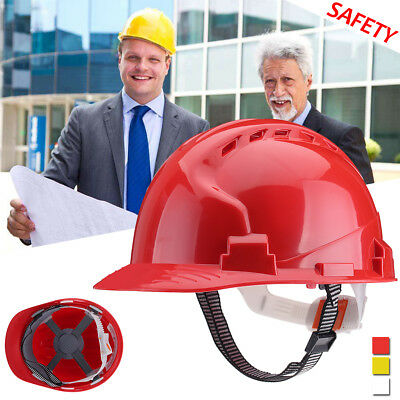 Four Point Hard Hat Safety Helmet Vented Suspension Construction Work Protector