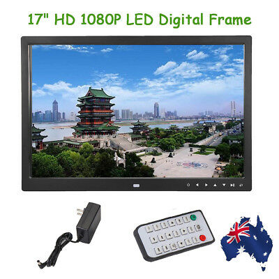 17'' HD 1080P LED Digital Frame Movie Player Remote Control Photo Picture Touch