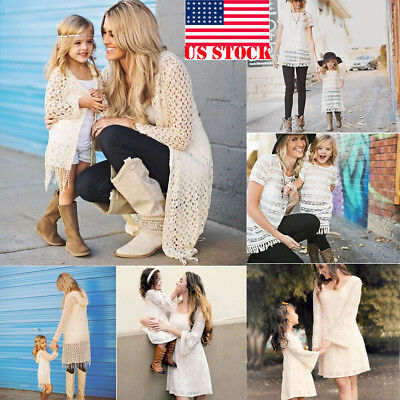 Mother and Daughter Boho Clothes Parent-child dress Family Matching Outfits Sets