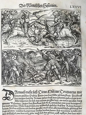 Livius History of Rome Post Incunable Woodcut Schoeffer (76) - 1530