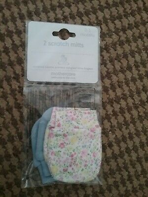 Mothercare set of two scratch mitts new in packaging