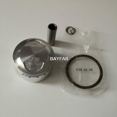 52mm Piston & Ring Set for Scooter ATV 139QMB GY6 50 60 80 upgrade to GY6 105cc