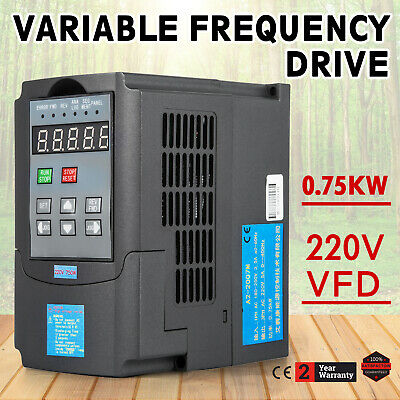 1HP 0.75KW Variable Frequency Drive VFD Single Phase VSD 220V Single Phase