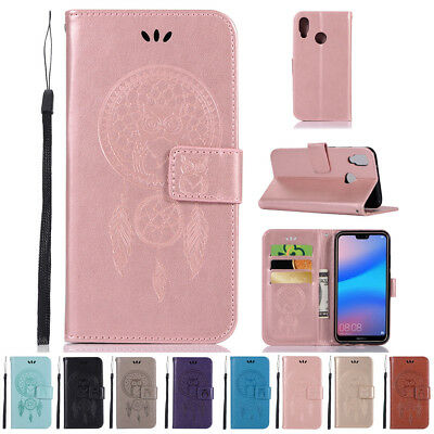 Flip Wallet PU Leather Holder Magnetic Protective Case Cover For Huawei P20 Lite