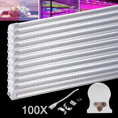 100X 120cm T8 LED Pflanzenlampe Tube voll spektrum Röhre Grow Light Transparent