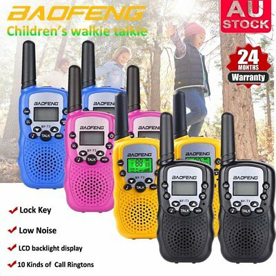 2x Mini BAOFENG T-3 Walkie Talkie 2 Way UHF Ham radio Long Range For Child Gift