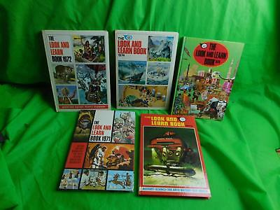 Lot of 5 x Fleetway Annual Look and Learn Book 1971 1972 1974 1975 1978