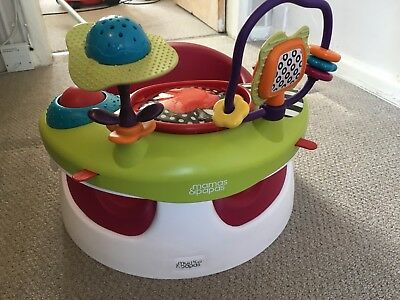 Mamas And Papas Baby Snug Seat With Play activity Tray cherry
