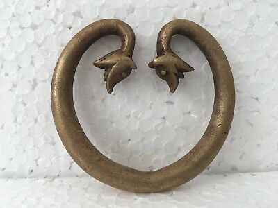 Hand Made Brass Bracelet Antique Hand Crafted Animal Face Carved collectable