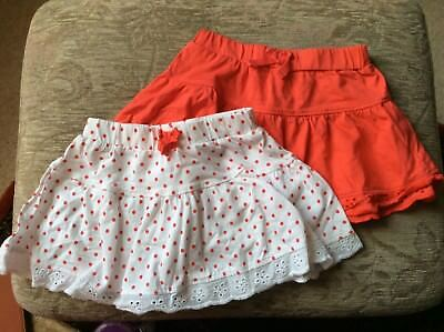 Two 6 - 9 Months Baby Girls Mothercare Ra-Ra Skirts Lace Edged In VGC
